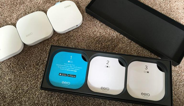 "Photo of an ""eero"" device"
