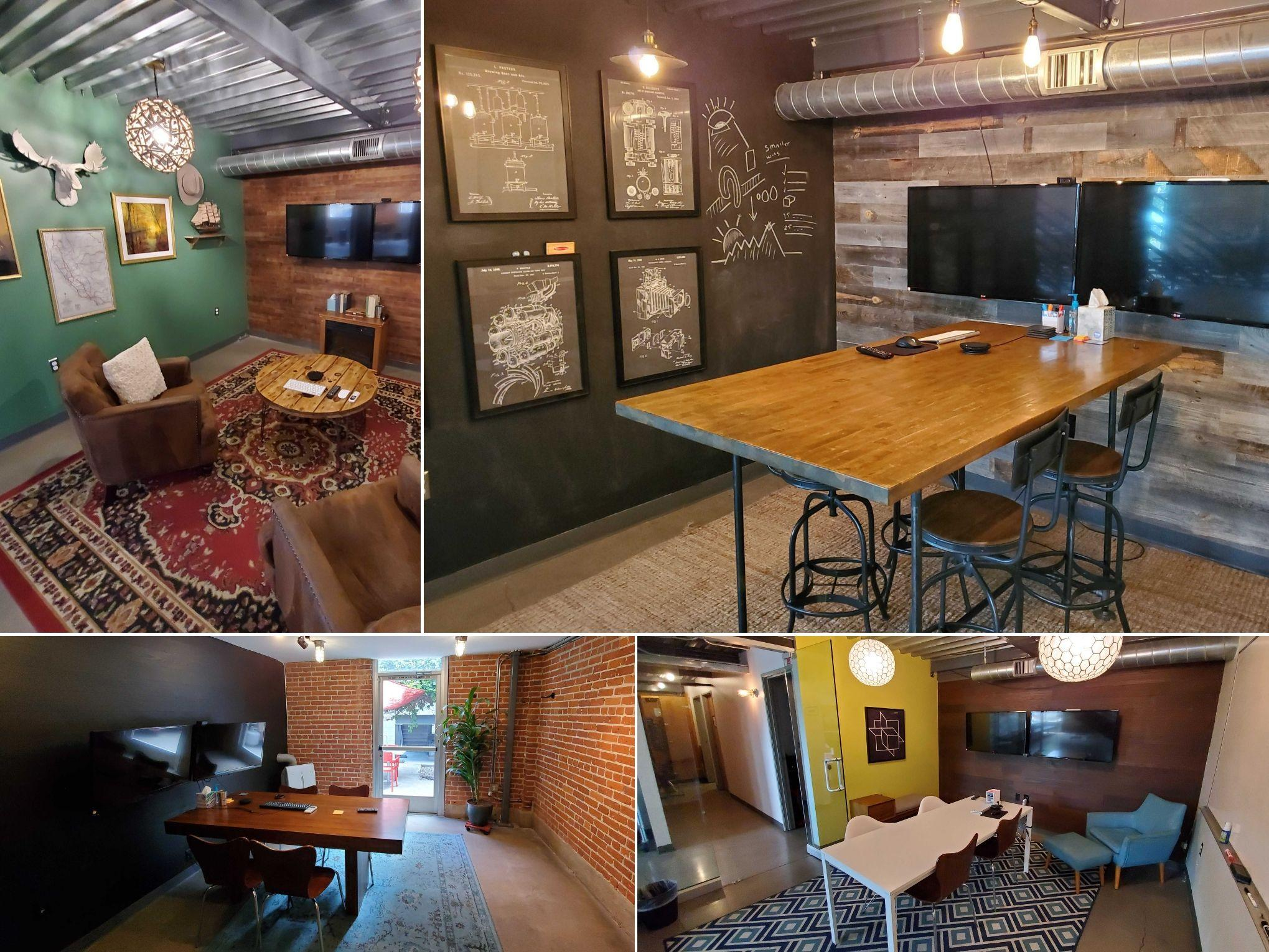 Four of our eclectic conference rooms.