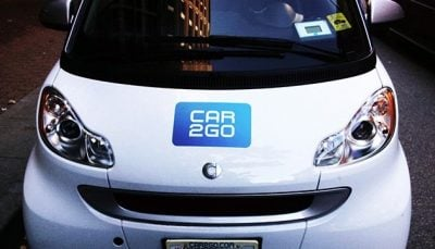 A photo of a Car2Go car