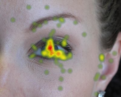 Eye tracking heatmap