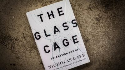 "A photo of the book, ""The Glass Cage"""