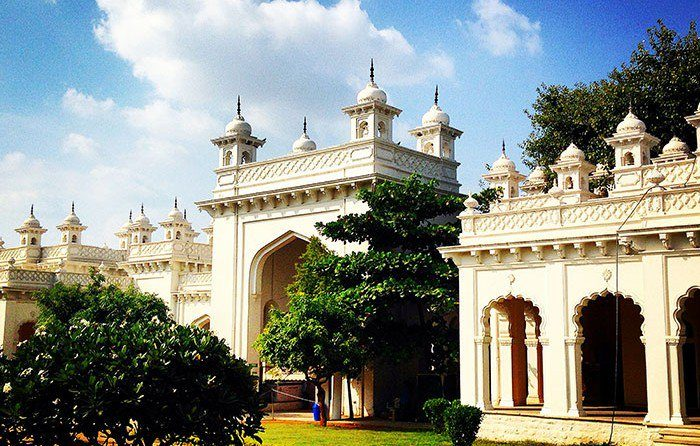 A photo of an Indian palace