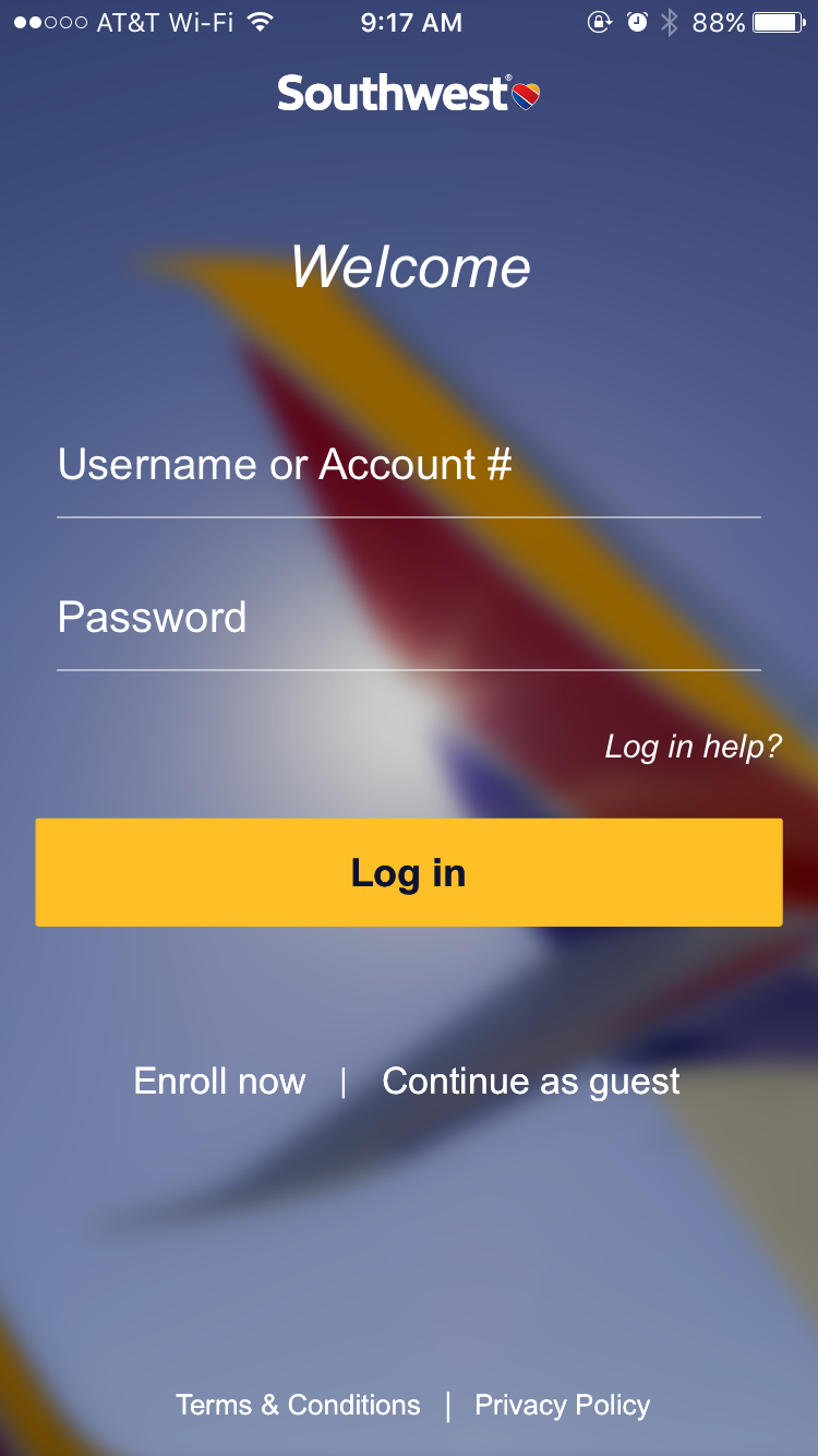 southwest-launch-page